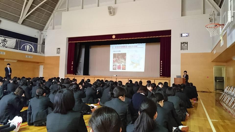 蒲田女子高校での講演風景